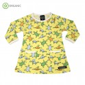 Robe bébé fille jaune tortues